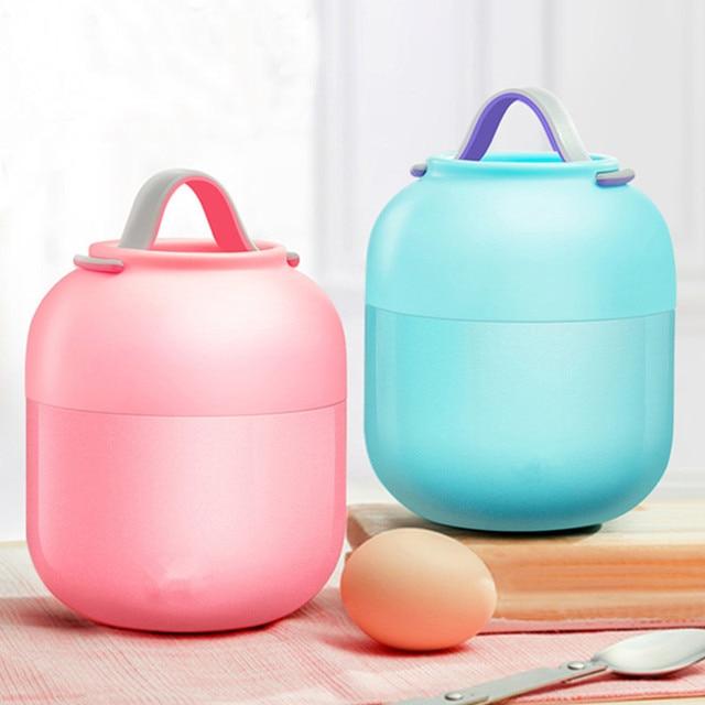 Caixa de Almoço quente kid Babys Talheres Sopa Panela Panela de Cozido Isolamento Chaleira Portátil Tigela de Aço Inoxidável Recipiente de Alimento do Vácuo