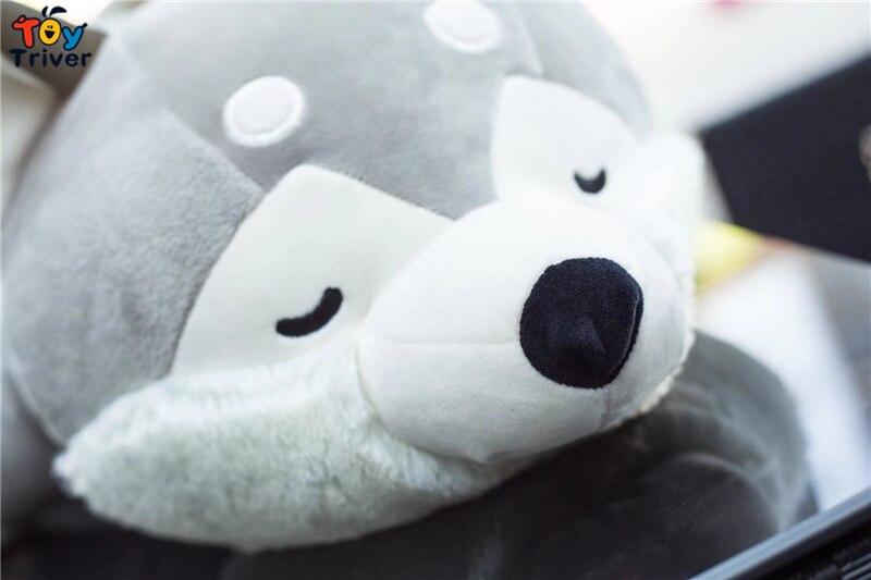 Plush Simulation Husky Dog Toy Stuffed Animal Doll Puppy Pet Pillow