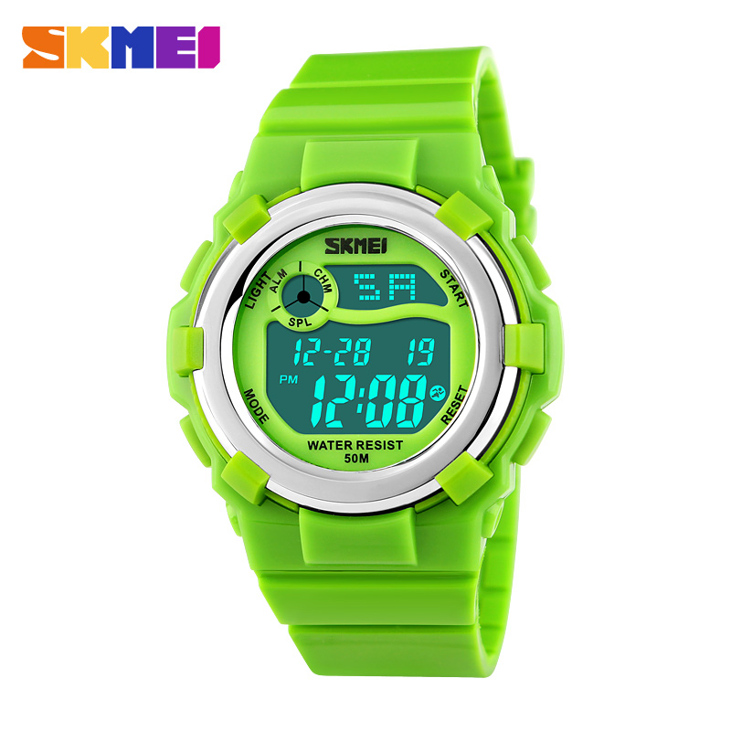 2016 New Fashion Cartoon Watch for Children Kid Clock Calendar Waterproof Digital LED Display SKMEI Brand 1161 Wristwatch
