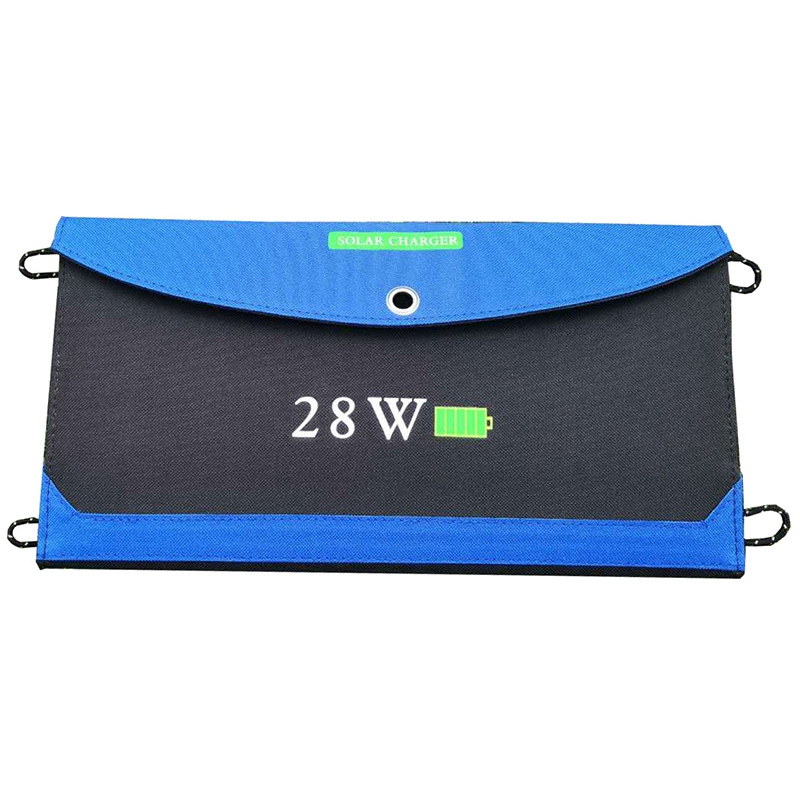 Portable <font><b>Solar</b></font> Folding Charger 28W Mobile Phone Dual Usb Outdoor Travel Camping Emergency <font><b>Solar</b></font> Charging Board Waterproof Sola image
