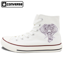 Elephant Ethnic Style Converse All Star Shoes High Top Canvas Sneakers Men Women Birthday Christmas Gifts