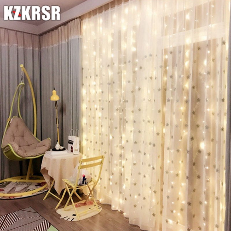4.5M x 3M 300 Led New Year Christmas Garland LED String Light Fairy Xmas Party Garden Wedding Decoration Curtain Fairy Lamp 3x3m led curtain string light fairy new year christmas garland decoration led waterproof lamp wedding party indoor outdoor decor