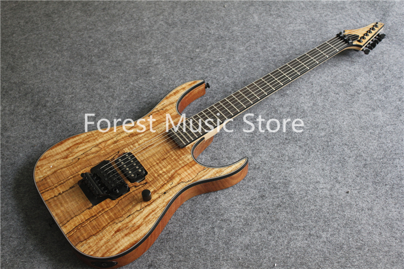 China Custom Shop Natural Wood Grain Finish Electric Guitars With Ebony Fingerboard For Sale custom shop electric guitar kit nature wood grain finish solid mahogany guitar body for sale
