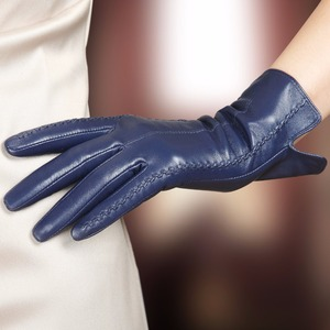 Image 2 - 高品質エレガントな女性本物のラムスキン革手袋秋と冬の熱ホットトレンディ女性グローブ L085