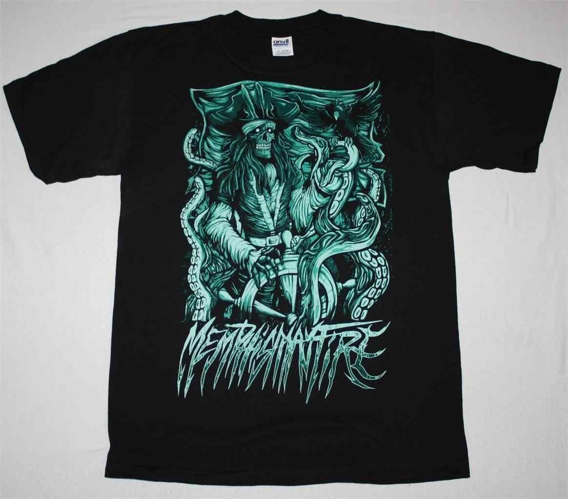 MEMPHIS MAY FIRE PIRATE METALCORE OF MICE & MEN MISS MAY I Новая Черная футболка 2019 модная футболка, футболка из 100% хлопка