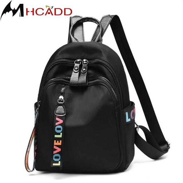 271adf0db0ef ... подростков школьные сумки известных Повседневное. MHCADD Brand Black  Leather Backpack Small Women Backpack Fashion Backpacks For Teenage Girls  School ...