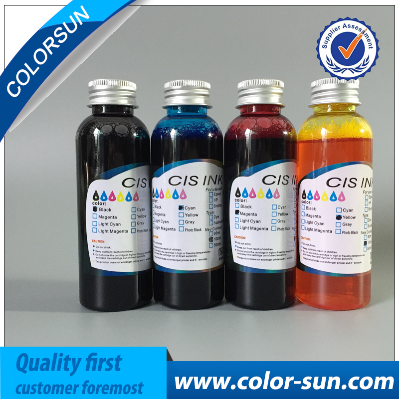 High quality 4 colors(CMYK) Edible Ink For Canon for Epson Desktop Inkjet Printer For Cake Chocolate coffee & food printer free shipping 100ml x 5pcs pgi 225 cli 226 edible ink for canon ip4820 ip4810 ip4920 ix6520 inkjet printer