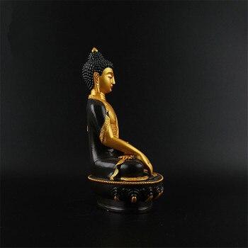 Estatua De Buda De Triratna, Estatua De Resina, Figurita De Dibujo De Color, Figura Amitabha De 21 Cm, Figura De Buda, Templo Formal