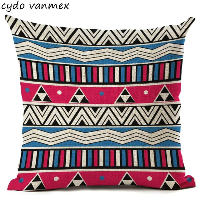 Ethnic Bohemian Throw Pillow Case For Chaise Chair Sea Anchor Cushion Cover  Cartoon Moroccan Office Decor
