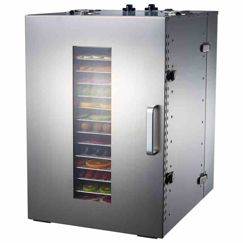 Stainless steel Food Dehydrator Fruits Vegetable Herb Drying Machine Snacks Meat Dried Food Dryers Commercial Processor 16 Tiers stainless steel manual cut meat machine