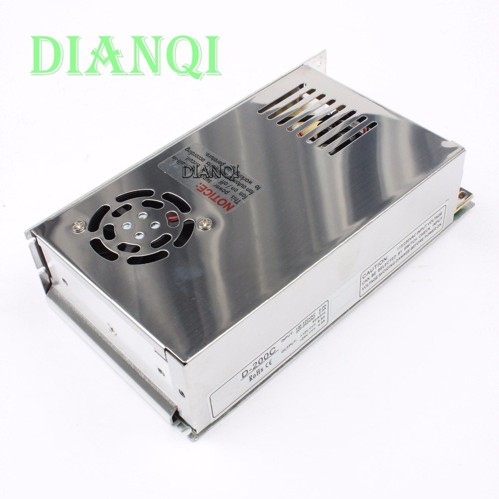 цены DIANQI Dual output power supply 200W 12V 8.5 24V 4.2A power suply D-200C ac dc converter good quality