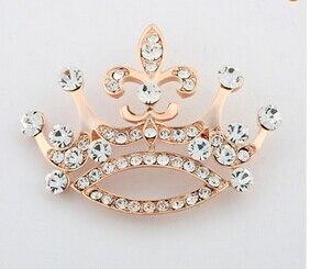 Мода белый острым носом брошь галстук изысканный подарок брошь Императорская корона Подвески Полный Кристалл Ювелирные Изделия свадьба