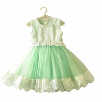 Lovely Lace Baby Girl Kids Vintage Flower Floral Tutu Dress Tulle Chiffon Princess Girl Dresses New