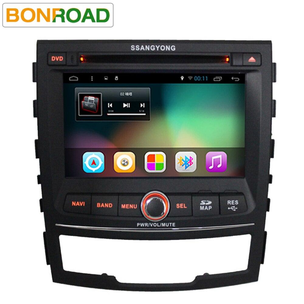 imágenes para Bonroad 7 ''Quad core 2 din Android 6.0 coches reproductor de dvd para SsangYong Korando 2010 2011 2012 2013 con gps rds bluetooth