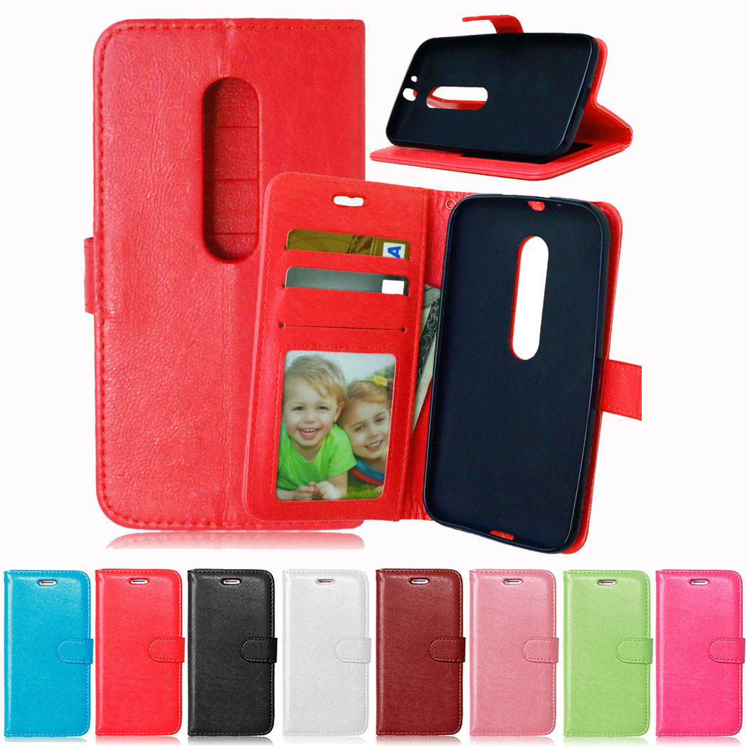 Luxury PU Leather Flip Cover <font><b>Case</b></font> For Motorola <font><b>Moto</b></font> G 3rd Gen <font><b>G3</b></font> Dual SIM XT1541 XT1543 XT1544 Cover For <font><b>Moto</b></font> G 3 <font><b>Phone</b></font> Bags