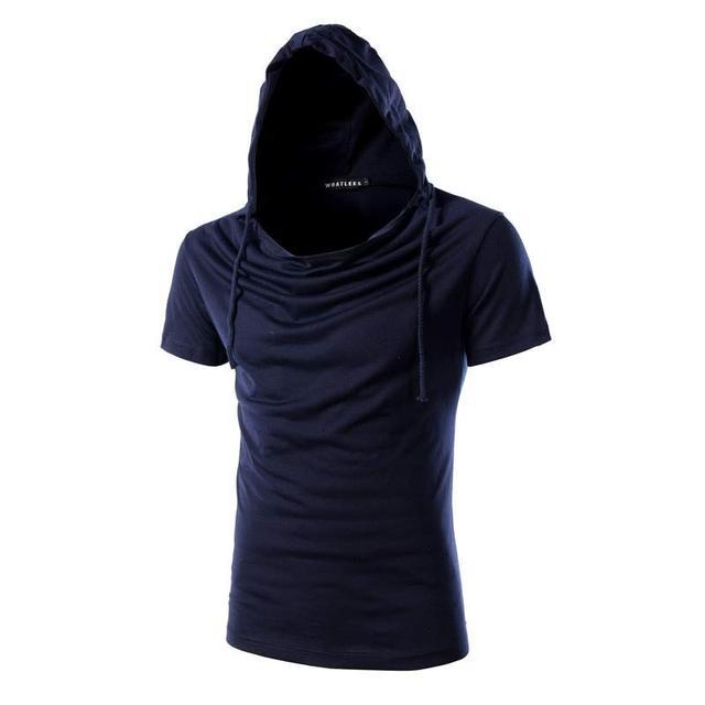 Men's T-shirt in the summer of 2016 male female fashion hooded short sleeve T-shirt shirt slim Masculina sporting t-shirts XXXL