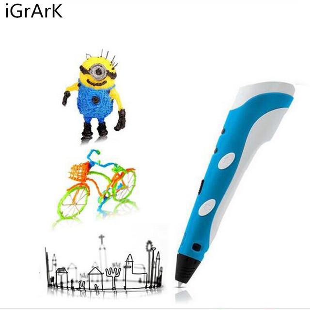 DIY 3D Printer Pen Drawing 3d printing Pen Model With 3 Color ABS/PLA 1.75mm Filament Arts Magic Printer 3d pens
