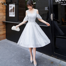 Silver Gray Shiny Sequined Short Homecoming Dresses 2019 Summer Ruffles Sleeves Sexy Graduation Party Dress