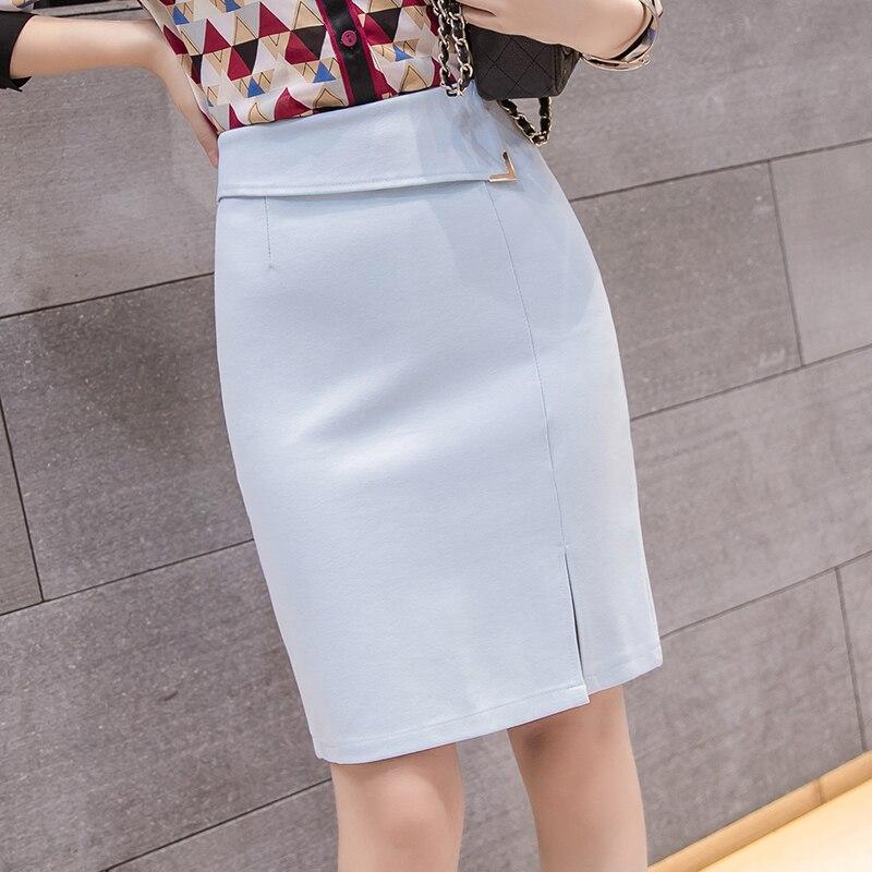 e101012f6 € 9.37 50% de DESCUENTO|Aliexpress.com: Comprar Faldas de mujer verano  Oficina señora bodycon faldas talla grande coreana alta cintura falda negra  ...