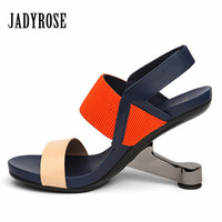 Jady Rose 2017 Fashion Women Shoes Genuine Leather Gladiator Summer Sandals High Heels Sexy Wedding Shoes