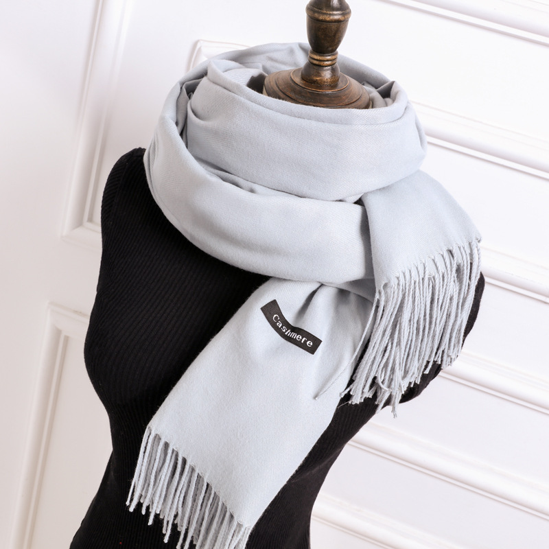 Scarf   Pashmina Cashmere   Scarf     Wrap   Shawl Winter   Scarf   Women's   Scarves   Tassel Long Blanket Cachecol High Quality NB01