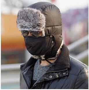 Russian Women Men Winter Hats Outdoor Thickening Cotton Fur Hat Earflap  Keep Warm Snow Caps Multifunction Bomber Hats Winter 4ab46eee9