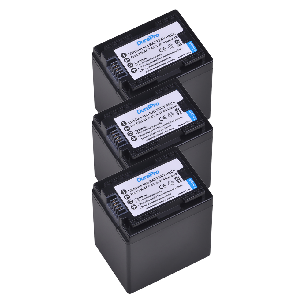 3X 4500mAH BP-745+ BP 745 BP745 Camera Battery for Canon BP-709,BP-718,BP-727,CG-700, VIXIA HF M50,M51,M52,M560,R30,R32,R36,M3063X 4500mAH BP-745+ BP 745 BP745 Camera Battery for Canon BP-709,BP-718,BP-727,CG-700, VIXIA HF M50,M51,M52,M560,R30,R32,R36,M306