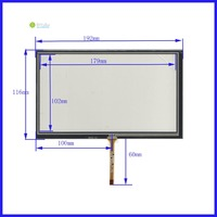 ZhiYuSun for AT080TN64 display XWT247 193mm*117mm 8inch 4 line For CarDVD touch screen panel 193*117 this is compatible