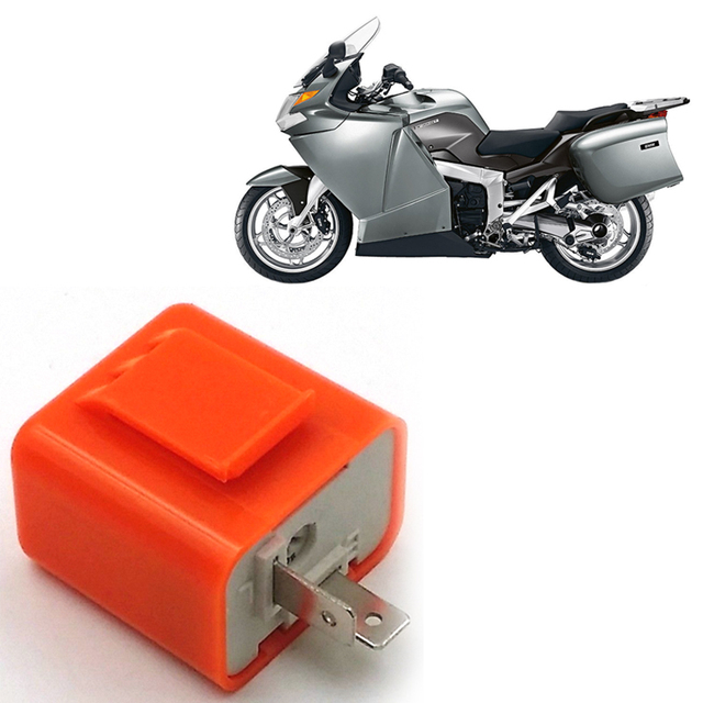 Motorcycle 12V 2 Pin Adjustable Frequency Relay Fix Flasher Blinker Scooter Turn Signals