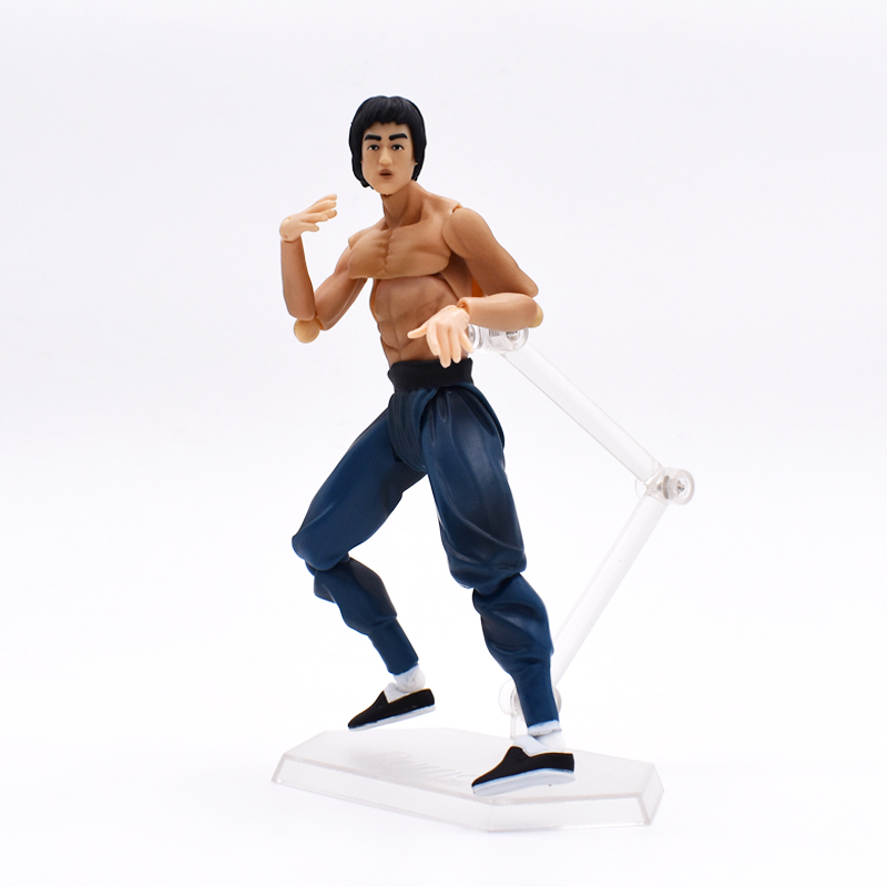 New Bruce Lee Figure Figma 266 J.G Chen Max Factory King of Kung Fu PVC Action Figure Collectible Model Toy 14cm FREE SHIPPING