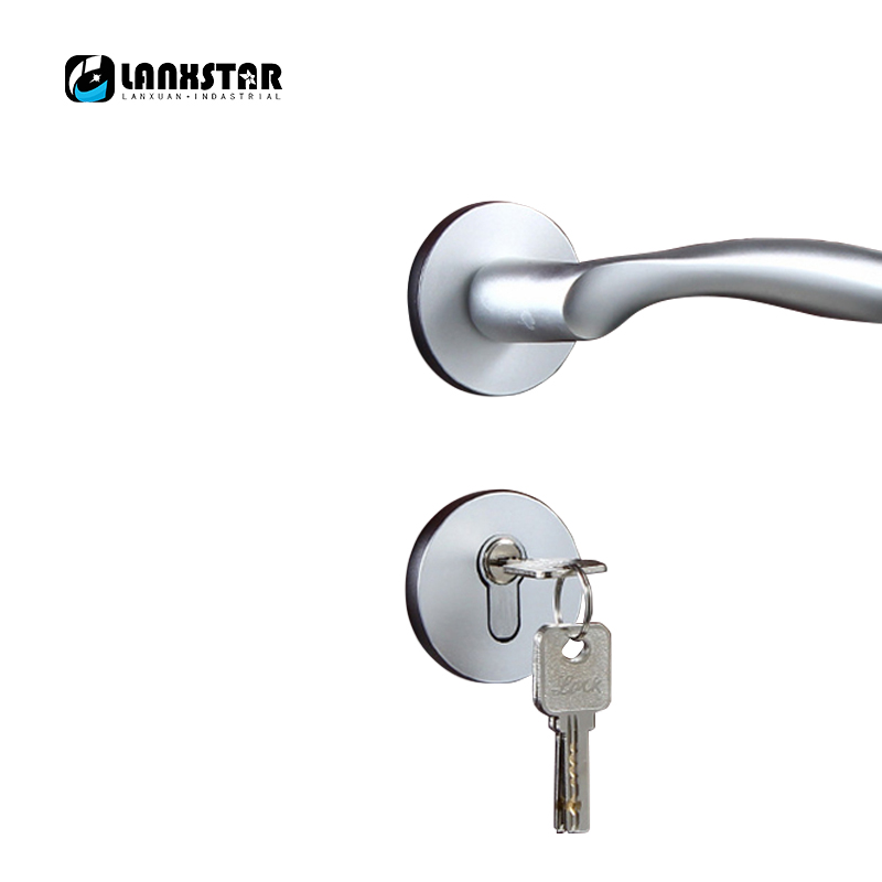 Fashion Mechanical Locks Aluminum Space Split Lock Indoor Wooden Door Lockset Room Wholesale Handle Door-locks factory interior door lock living room space aluminum mechanical lockset wholesale quality assuranced handle locks