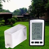 Wireless Rain Meter Gauge Weather Station Indoor Outdoor Temperature Recorder H028 Drop Shipping