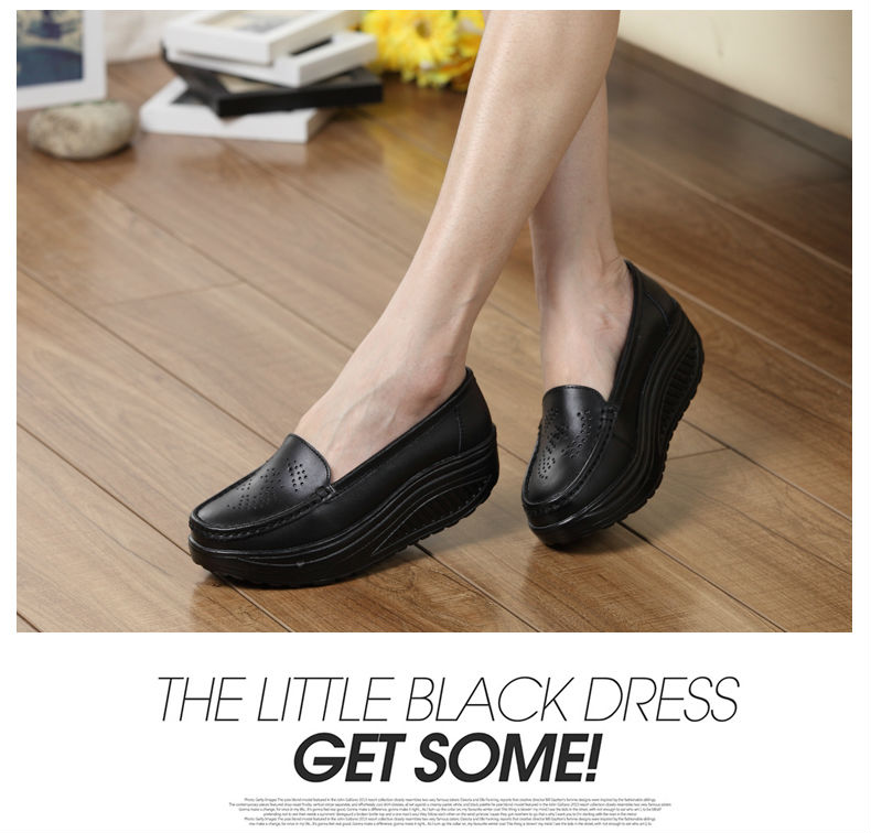 New Womens Shake Shoes Lady Genuine Leather shoes (19)