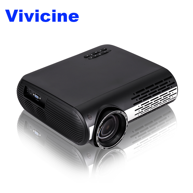 VIVICINE 1080p HD font b Projector b font Option Android 7 1 WiFi Bluetooth Home Theater
