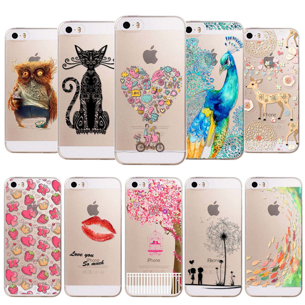 Hot sale Back Cover For Apple iphone 6 6s cases Love patterns Soft Sillicon Transparent TPU phone Coque Flamingo Letter funda
