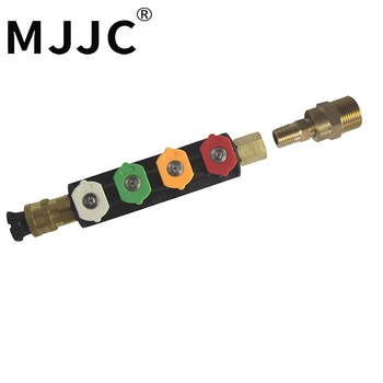 MJJC marca agua lanza agua varita boquilla con M22 conexión rosca macho para conectar a arandelas de presión alta calidad