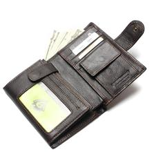 Retro Practical Oil Waxing Leather Travel Wallet