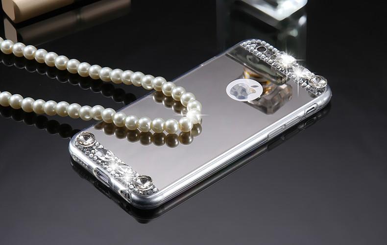 Dla iphone 6 7 case glitter lustro sprawach phone bag dla iphone 7 6 6 s plus 5S 5 se diamond case do samsung s8 plus s6 s7 krawędzi 4