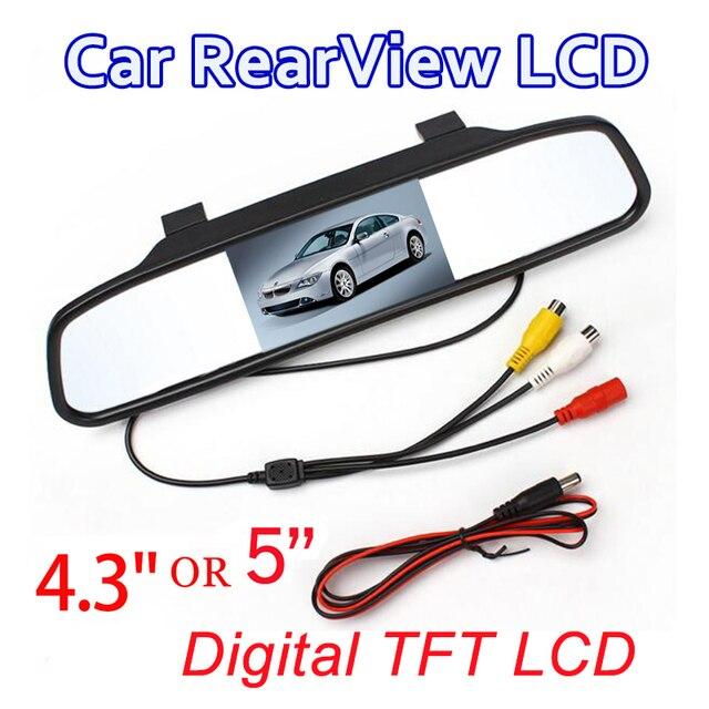 Espejo retrovisor del coche Monitor de Video HD Auto Monitor TFT LCD Screen4.3 pulgadas con caja de venta al por menor