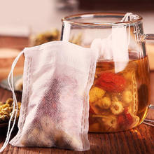 Tea Bags 100 Pcs Empty Scented Drawstring Pouch Bag 20 x 15CM Seal Filter Cook Herb Spice Loose Coffee Pouches Tools(China)
