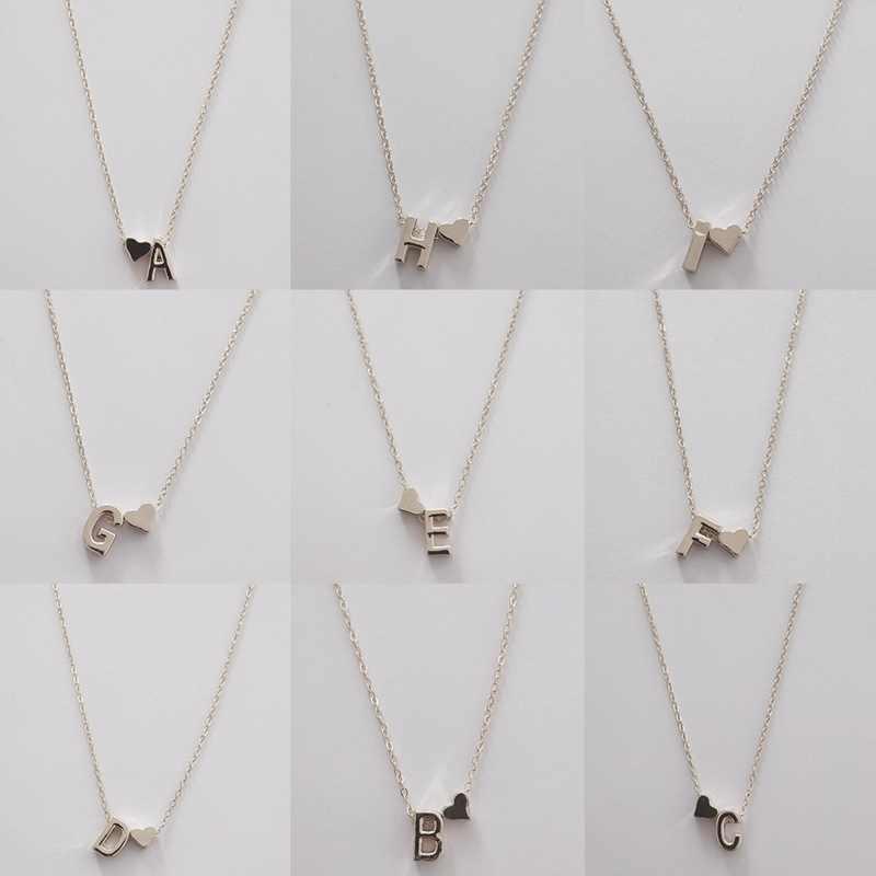 2019 Мода сердце цепочка с именным инициалом ожерелье с буквенными подвесками Имя ювелирные изделия для женщин аксессуары подарок девушки