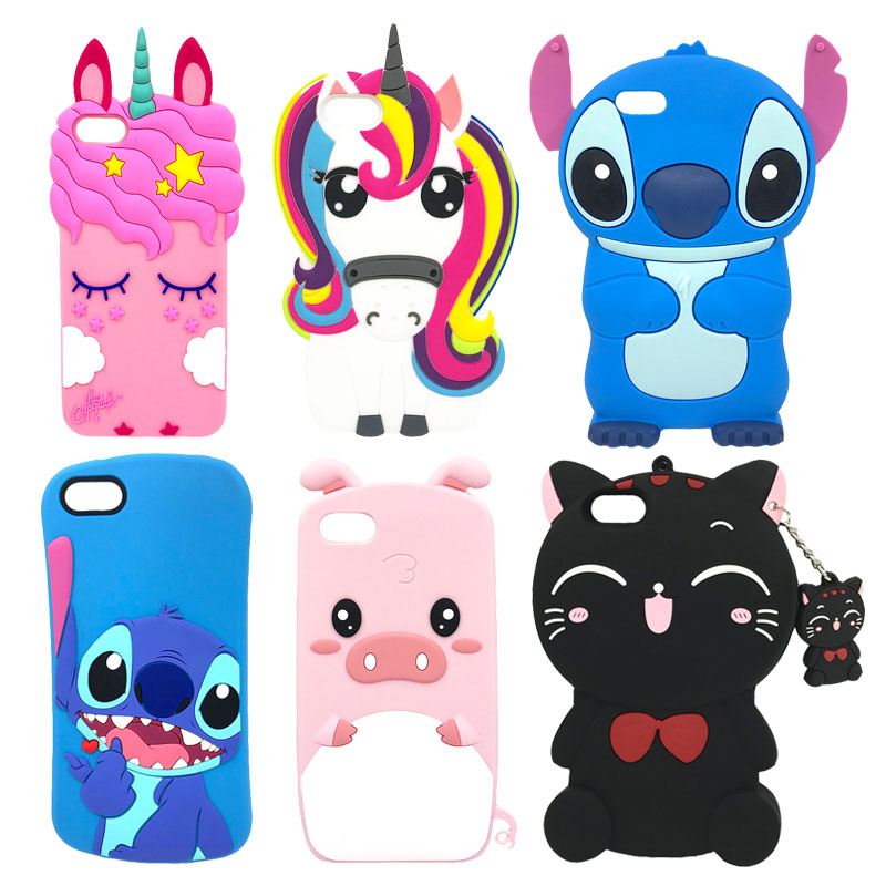 For Huawei Y5 2018 Case Cover Prime Cute Cartoon Unicorn Cat Soft Silicone Y 5