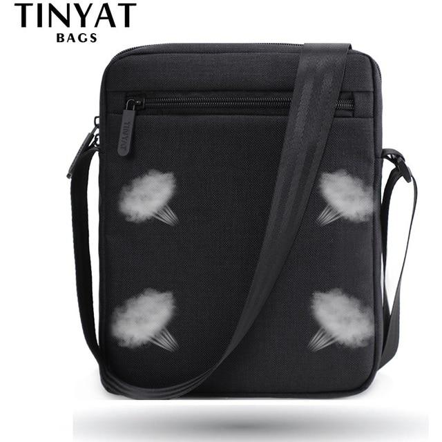 TINYAT Light Canvas Men's Shoulder Bag For 7.9' Ipad Casual Crossbody Bag Waterproof Business Shoulder bag for men 0.13kg 3