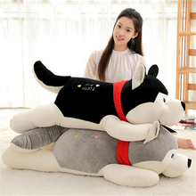 "Fancytrader Huge 110cm Cute Soft Animal Dog Plush Toy 43"" Big Cartoon Lying Dogs Pillow Kids Play Doll Baby Gift"