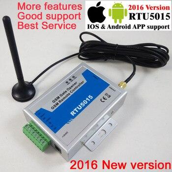 С почтовой почтой RTU5015 GSM ворота открывания двери оператора с SMS Пульт дистанционного управления сигнализации 1 выход/2 входа Поддержка прило...