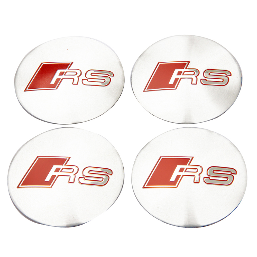 For RS Line Sticker For Audi RS RS3 RS4 RS5 RS6 RS7 RSQ Q5 Q7 A4 B6 C5 TT A3 A5 A6 S5 S3 Car Styling Wheel Center Hub Caps Badge