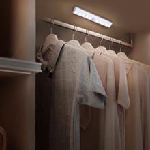 Motion Sensor LED Light 10 LEDs Wireless Closet Lights Table Lamp Cabinet Bookcase Light Doorway Bedroom Kitchen Bathroom
