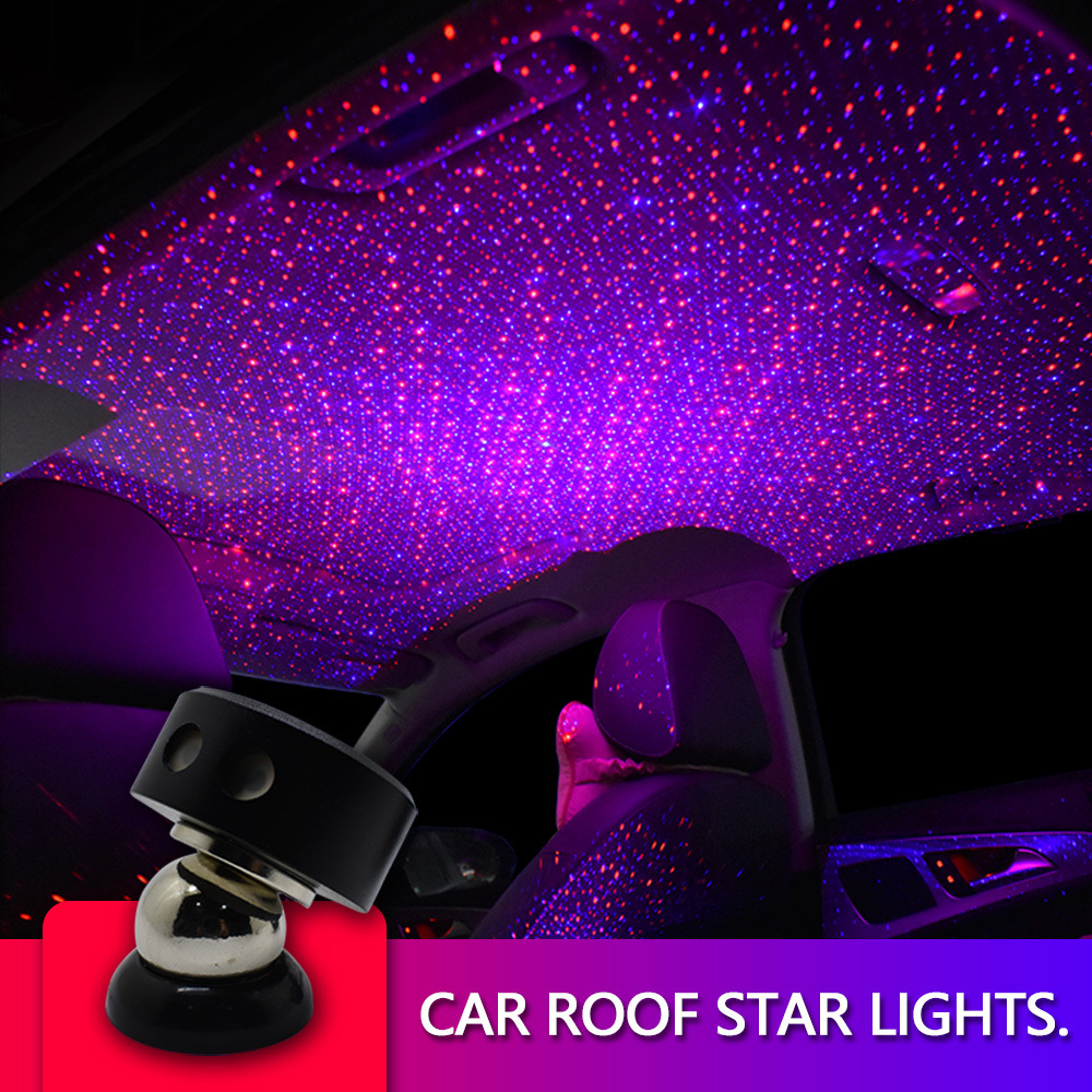 Car Roof Star Projector LED Night Ligh RGB LED Ambient Light Optical Fiber Cable Light