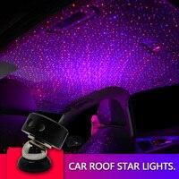 Teto do carro Noite Projetor Estrela LEVOU Ligh LED RGB Cabo De Fibra Óptica de Luz Ambiente luz