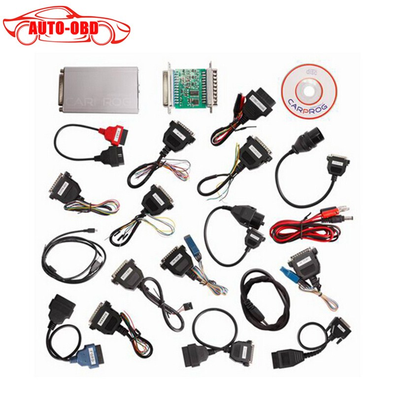 ФОТО Newest Car prog Carprog V9.31 Full 21 Adaptor Professional Carprog ECU Programmer Auto Repair Airbag Reset Tools best price